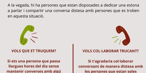 """Els Serveis Socials del Consell Comarcal de la Segarra engeguen l'acció """"TRUCADES QUE ACOMPANYEN"""""""