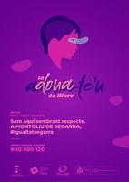 L'Ajuntament de Montoliu de Segarra és suma a la campanya contra la violència de gènere