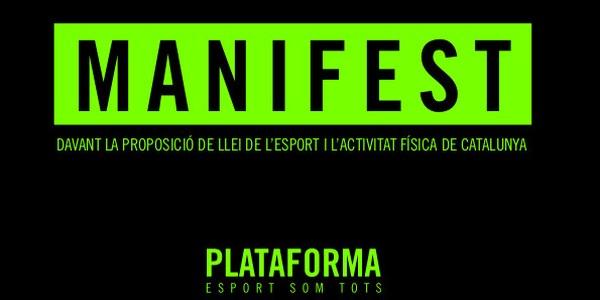 L'Ajuntament de Montoliu de Segarra s'adhereix al manifest presentat per la plataforma Esport Som Tots