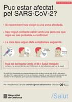 Puc estar infectat pel coronavirus SARS-CoV-2? En cas de dubte o consulta truqueu al 061