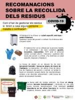 Recomanacions sobre la recollida de residus en cas de conviure amb una persona malalta o confinada per Coronavirus